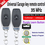 Garage Door Opener Remote Purple Learn Button 315mhz For Liftmaster Chamberlain