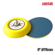 3 Inch 75mm Dual Action Backing Plate Hook And Loop Sanding Discs M6/m8 Thread