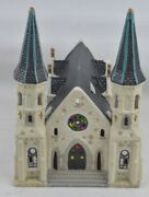 Dickens Keepsake Collectables 1995 Porcelain Church Village Building Lighted
