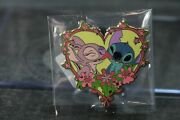 Disney Pin Uk Store Europe Stitch And Angel Heart Valentineand039s Day 2012 Le 350