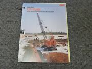 Link Belt Ls-108b Excavator Crane Specifications And Lifting Capacities Manual