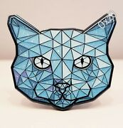 Crystal Cat Topaz Art Pin Limited Edition /150 2 Sticker Kitty Lupo