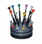 Bergeon 55-604 6899-s10 Rotating Stand With 10 Ergonomic Screwdrivers And 10 Tub