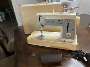 Singer Model 648 Sewing Machine Touch And Sew Special Zig Zag W/ Foot Pedal Read