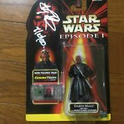 Dozen Maul Role Ray With Star Wars Figure Case Signed By Park Himself