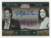 2007 Donruss Americana Billy Bee Williams Carrie Fisher Star Wars Auto