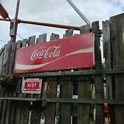 American Vintage Sing Coca-cola Coca Cola Large Front Sign Novelty Store