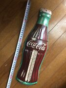 60 American Vintage With Celsius Notation Coca Cola Bottle Banner Thermometer