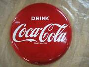 Horrow Signboard Coca Cola Button Sign Diameter About 60cm Showa Retro Things At