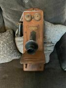 Original Antique 1900s Wall Telephone By Ewing-merkle Electric Company