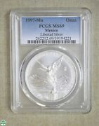 1997-mo Mexico Onza - Libertad Silver - Pcgs Certified - Ms 69