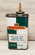 Vintage 1950and039s Gm Accessories Heat Riser Valve Lubricant And Penetrating Fluid Can