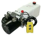 Flowfit 12v Dc Double Acting Hydraulic Power Pack With Tank, Back Up Hand Pump