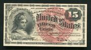 Fr 1268 15 Fifteen Cents Fourth Issue Fractional Currency Note Uncirculated