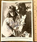 Jane Fonda And Bruce Dern Signed 1978 Coming Home Publicity Todd Mueller Coa Photo
