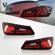 Vland Red Led Tail Lights For 2006-2013 Lexus Is 250 Is350 Sedan And 08-14 Isf