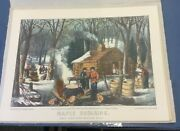 Vintage Currier And Ives 7 Lithograph 12x8 Scenic Prints Folk Art New York