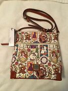 Disney Dooney And Bourke Beauty And The Beast Stained Glass Crossbody Nwts