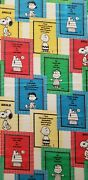 Peanuts Snoopy Charlie Brown 1965 Schultz Curtain Panel Fabric 40 X 70 Vintage