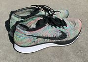 Nike Flyknit Racer 2.0 Multi Color Running Shoes Menandrsquos Size 9.5
