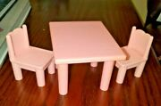 Playskool Victorian Dollhouse Kitchen Table And Two Chairs Very Good Condition