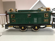 American Flyer Rare Standard Gage 4684 Engine And Two Passenger Cars-circa 1927