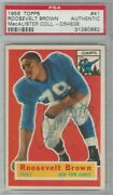 1956 Topps 41 Roosevelt Brown Rc Rookie Signed Auto Psa Dna Highest