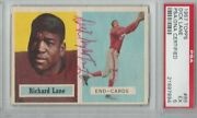 1957 Topps 85 Richard And039night Trainand039 Lane Rc Rookie Signed Auto Psa Dna 5