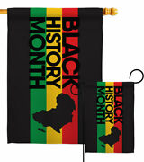 Black History Garden Flag Cause Support Decorative Small Gift Yard House Banner