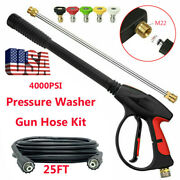 4000 Psi High Pressure Washer Power Spray Gun Hose Kit Nozzle Extension Wand M22