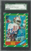 1986 Topps 161 Jerry Rice Rc Rookie Signed Autograph Sgc 5 Jsa