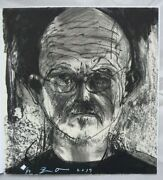 Jim Dine Signed And Numbered Print Ed50 Self Portrait