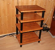 Wooden Audio Rack Stand Supreme 4 Shelves