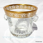 Ice Bucket Crystal Saint Louis Thistle Gold In Perfect Condition