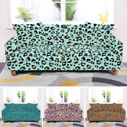 Leopard Style L Shape Sectional Sofa Cover For Living Room Elastic1/2/3/4 Seater