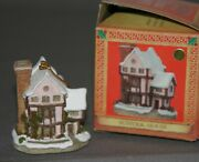 David Winter Cottages Christmas Ornaments 92 Suffolk House H