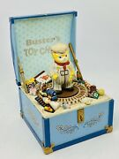 Rare Schmid Kitty Cucumber Cat Busterand039s Toy Chest Toyland Moving Music Box
