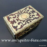 Little Jewelry Box In Boulle Marquetry Napoleon Iii Period 19th