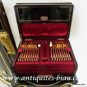 Spoons Box In Boulle Marquetry 19th Napoleon Iii Period