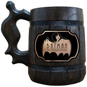 Batman Animated Series Logo Beer Stein Personalized Gift For Men Gift For Him