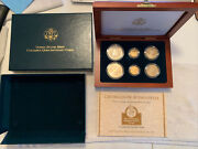 1992 Columbus 6 Coin Commemorative Proof Set With 2 Gold Coins, 2 Silver Coins