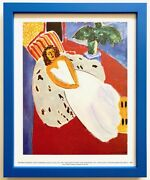 Henri Matisse Rare 1992 Framed Moma Lithograph Print Young Woman In White 1946