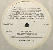 Beatles White Label Test Pressing Across The Universe 1 Sided 7andrdquo Mono 1969 Ex