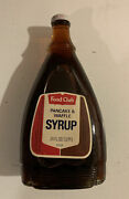 Vintage 1973 Unopened Food Club Pancake And Waffle Syrup Glass Bottle Metal Cap