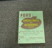 1936 Ford Model 67 Truck Chassis Parts And Accessories Catalog Manual