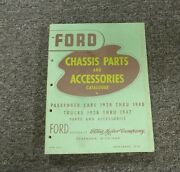 1938 Ford Model 85 Truck Chassis Parts And Accessories Catalog Manual