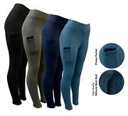 Riding Tights With Phone Pockets Silicon Seat Horse Riding Tights Riding Legging