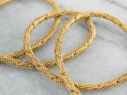 18k Gold Mesh Chain Necklace