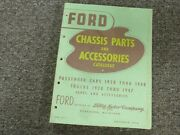 1941 Ford Model 11 A Chassis Parts And Accessories Catalog Manual