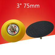 3 75mm Sanding Pad Dual Action 6mm Thread Shank For Drill Grinder Rotary Tools